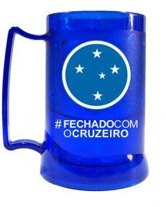 CANECA GEL PEÇA AZUL - FECHADO COM O CRUZEIRO - Cruzeiro