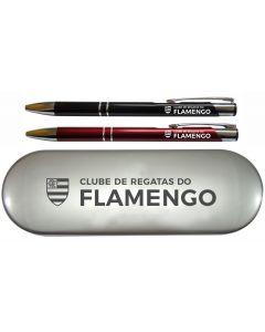 CONJ CANETA LAPISEIRA 143 PRETA/VERM - ESCUDO - Flamengo