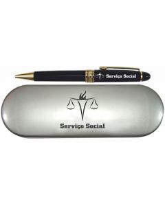 CANETA SOCIAL C/ ESTOJO - SERVIÇO SOCIAL